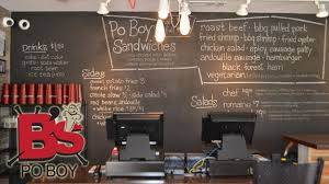 Image of B's Po Boy menu at their Fountain Square location