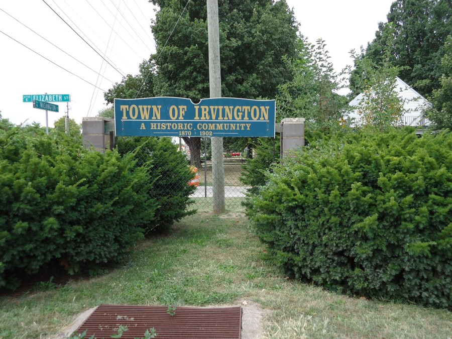 Irvington Sign Mounted