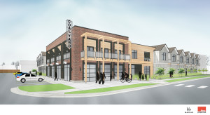 First-floor commercial and community space